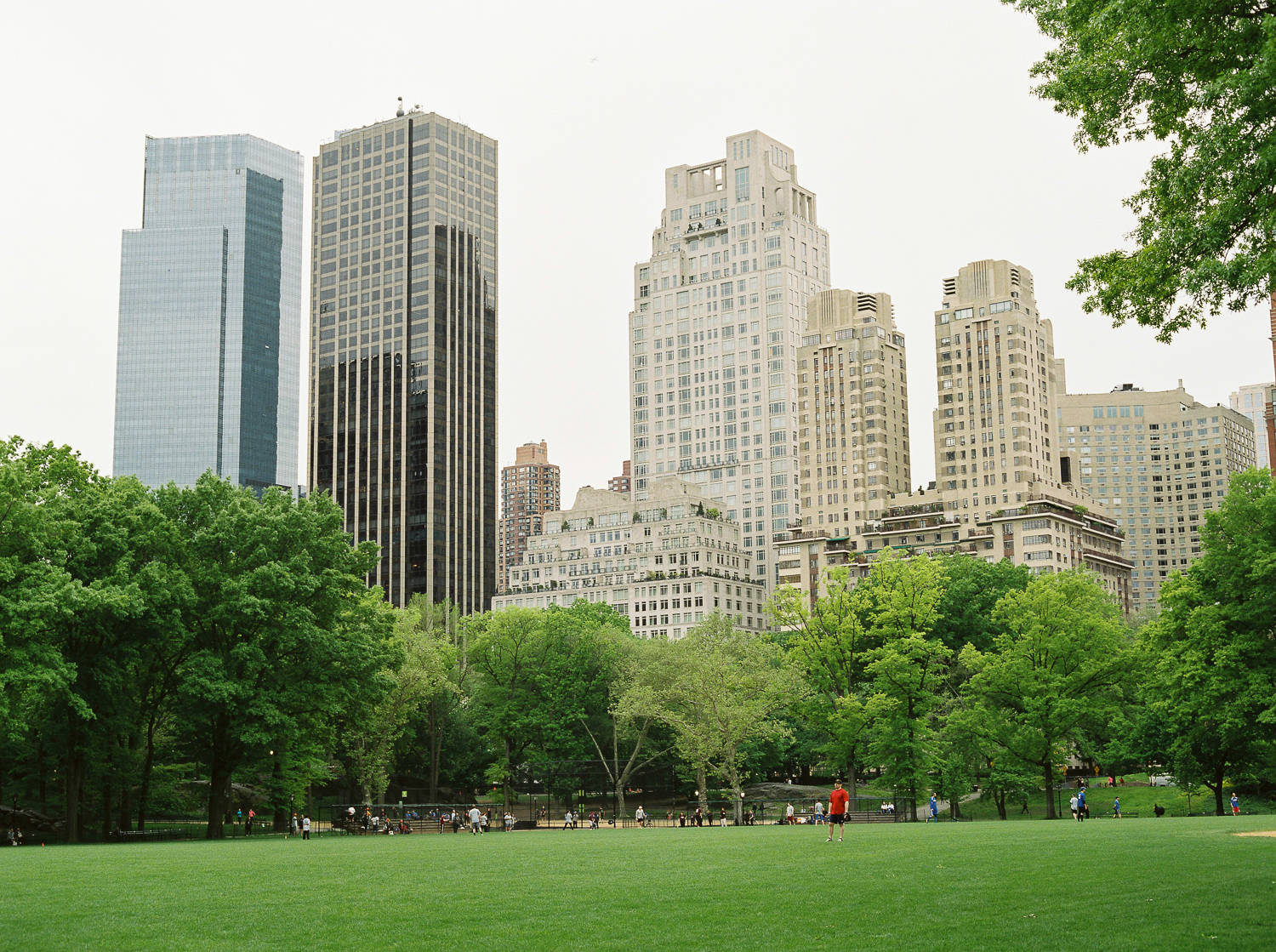 Central Park is a popular place for people who play sports