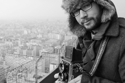 On the middle floor of the Eiffel Tower with my fluffy hat and C220 TLR. This old film camera was the only camera that I took on our trip to Paris. I was nervous about only taking a film camera but I got some great shots with it.
