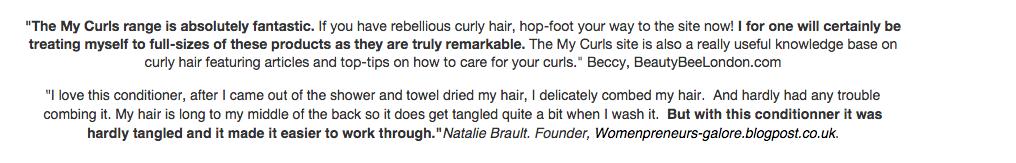 natural hair product reviews