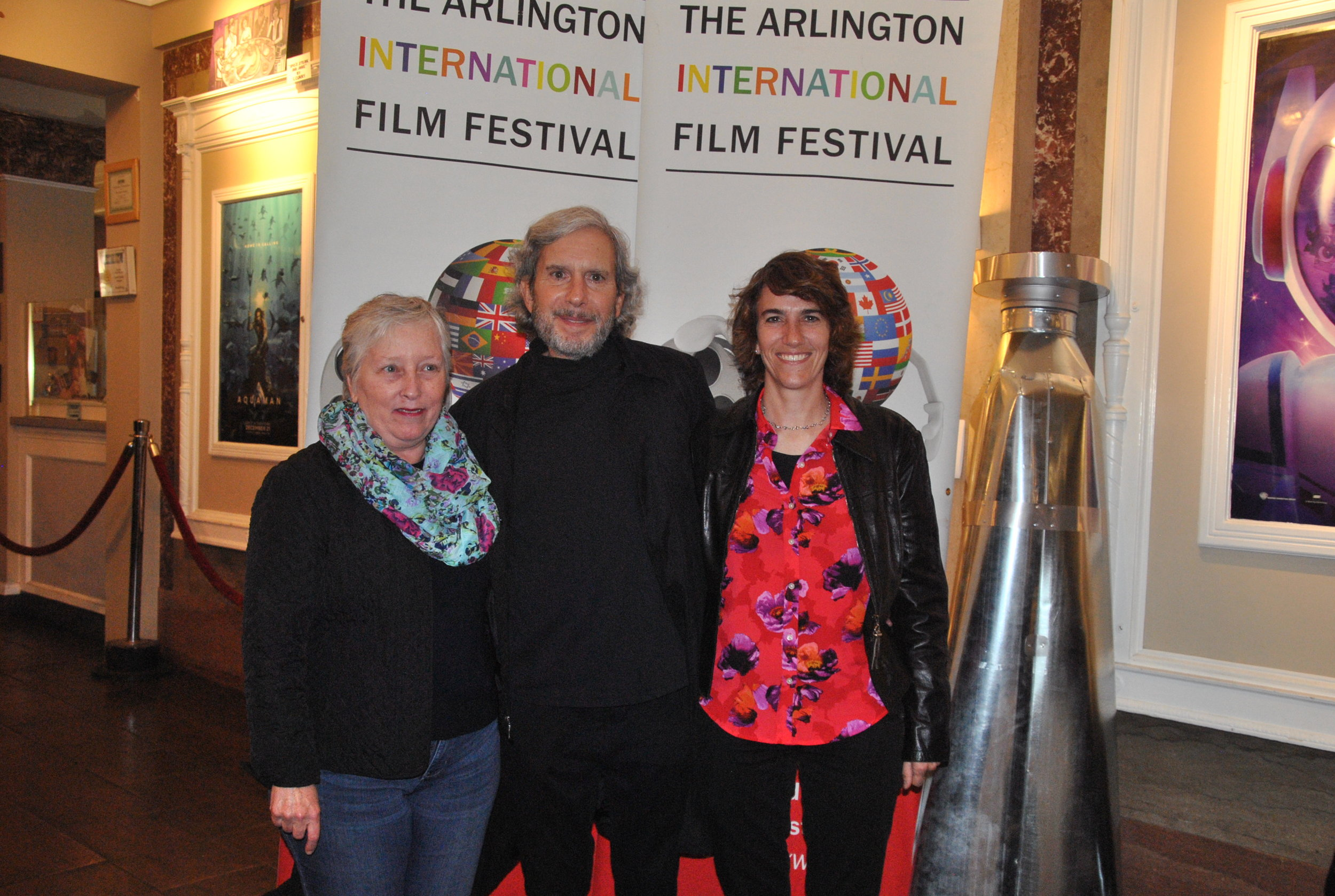April Ranck, Executive Director of AIFF, David Sutherland, filmmaker and Sally Rubin, filmmaker