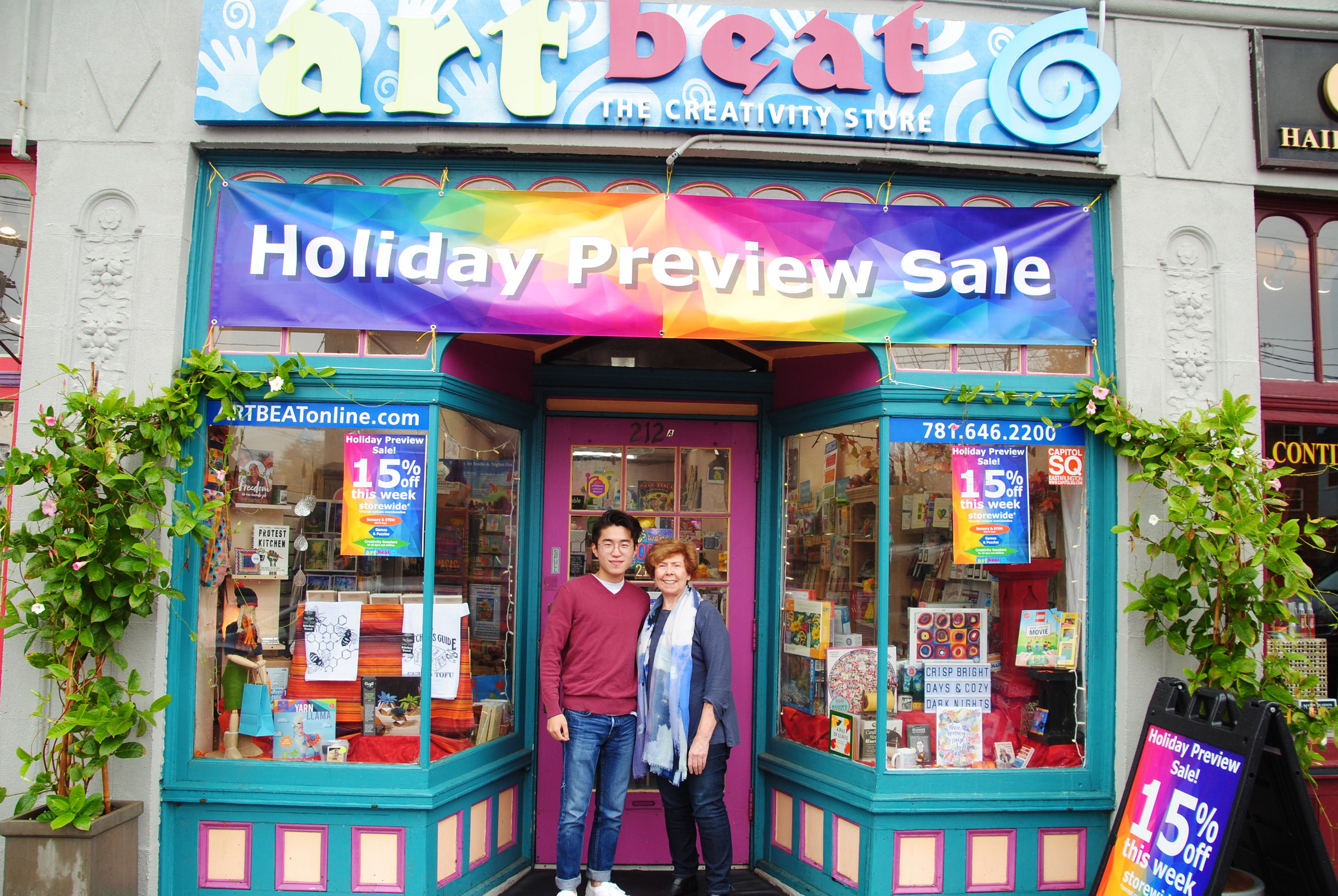 Thomas Kim | Student from Concord MA and Jan Whitted | Owner of Art Beat