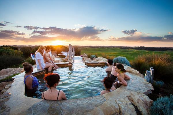The  Peninsula Hot Springs  is just the place to chill out after a day wine tasting
