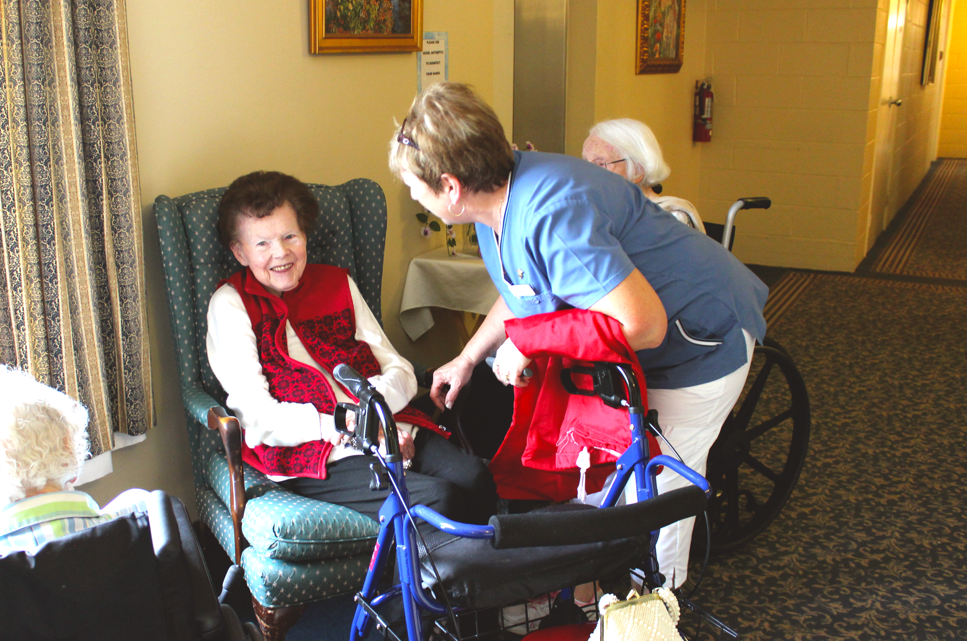 Birchmere Residence Assisted Care Resident and Nurse