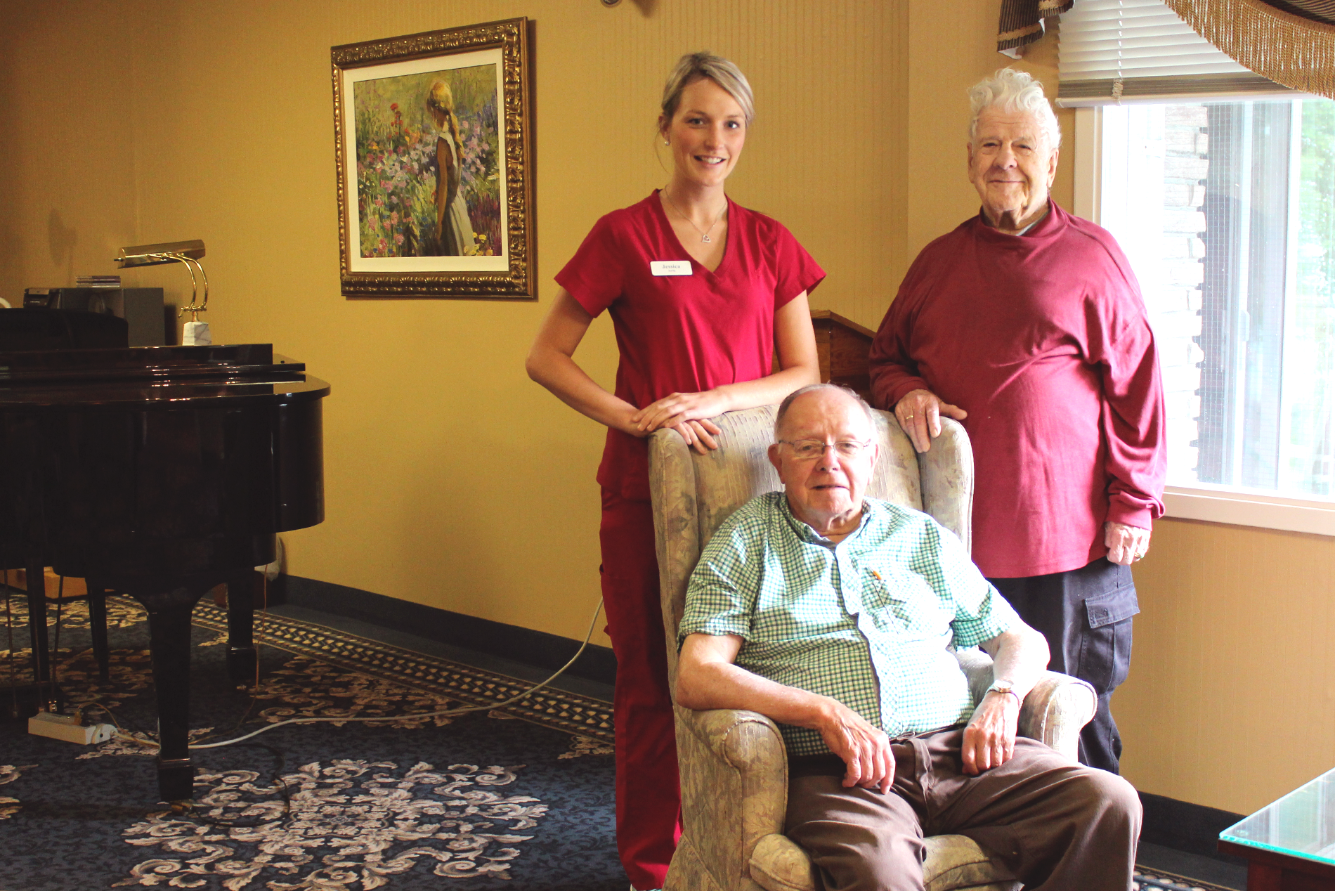 Residents and Nurse.