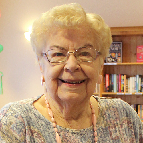 """""""I like that you can be as busy as you want or just sit back and read a book. I like that there is someone nearby all the time. My daughter lives in the States and she has visited 8 times this year. My sons who lives in Orillia, takes me out often for dinner. """"   Goldie Smith, Resident"""