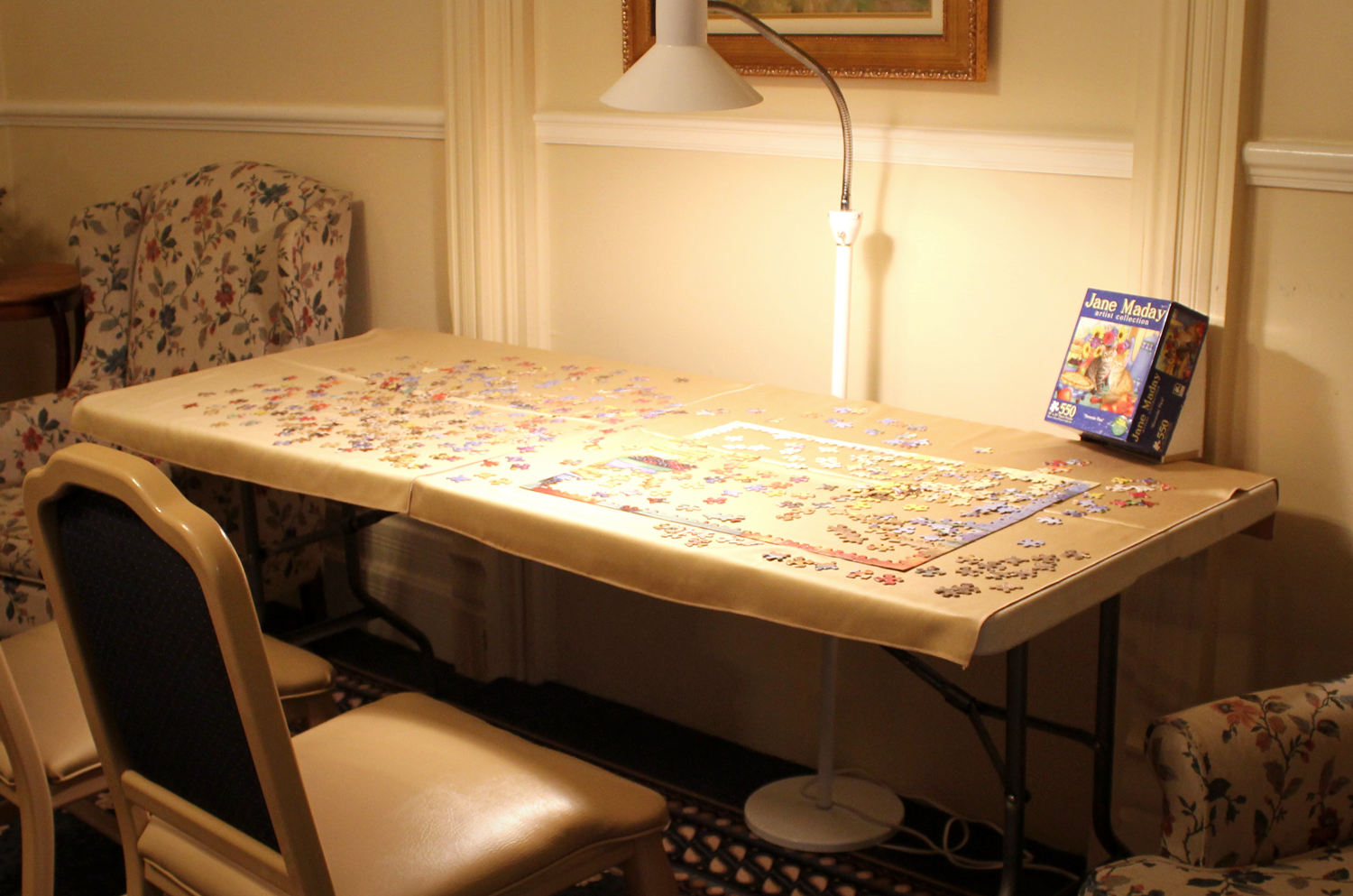 Puzzle Table in Activity Room