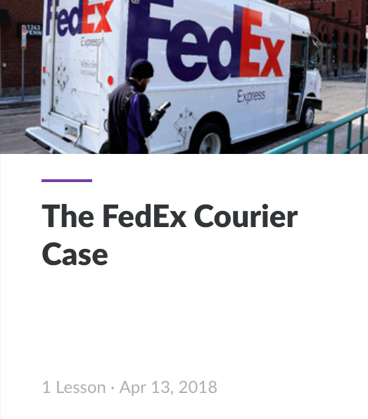 Interactive Story FedEx Courier Case