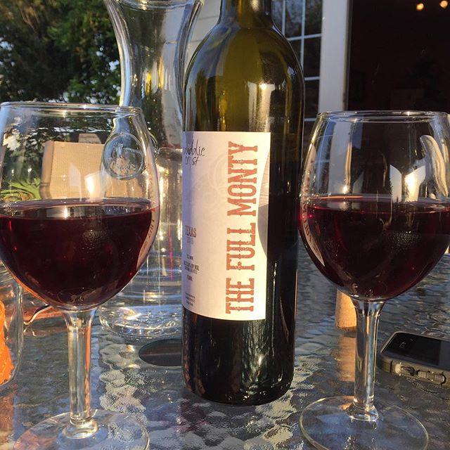 🤔 Full Monty before or after you finish the bottle......hummmmm. #fullmonty #texas #texaswine #texaswinery #fallinthevinyard