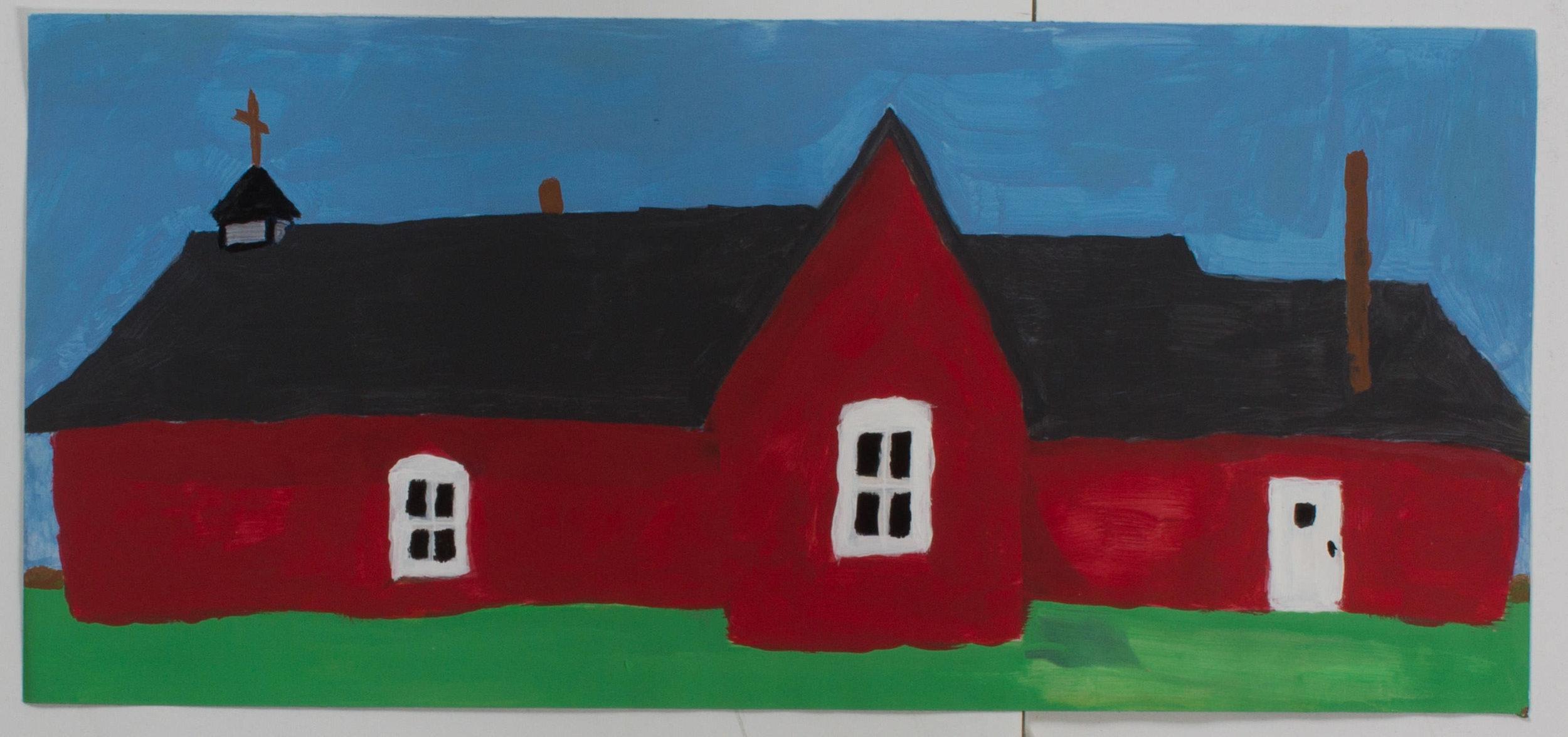 Gok house   (8x16 framed - print - acrylic