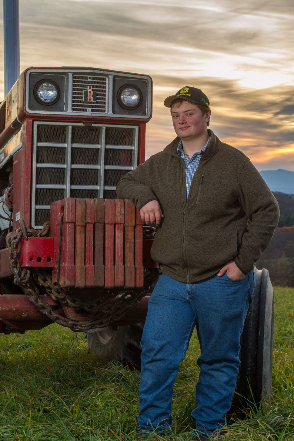 Senior Portrait with Tractor