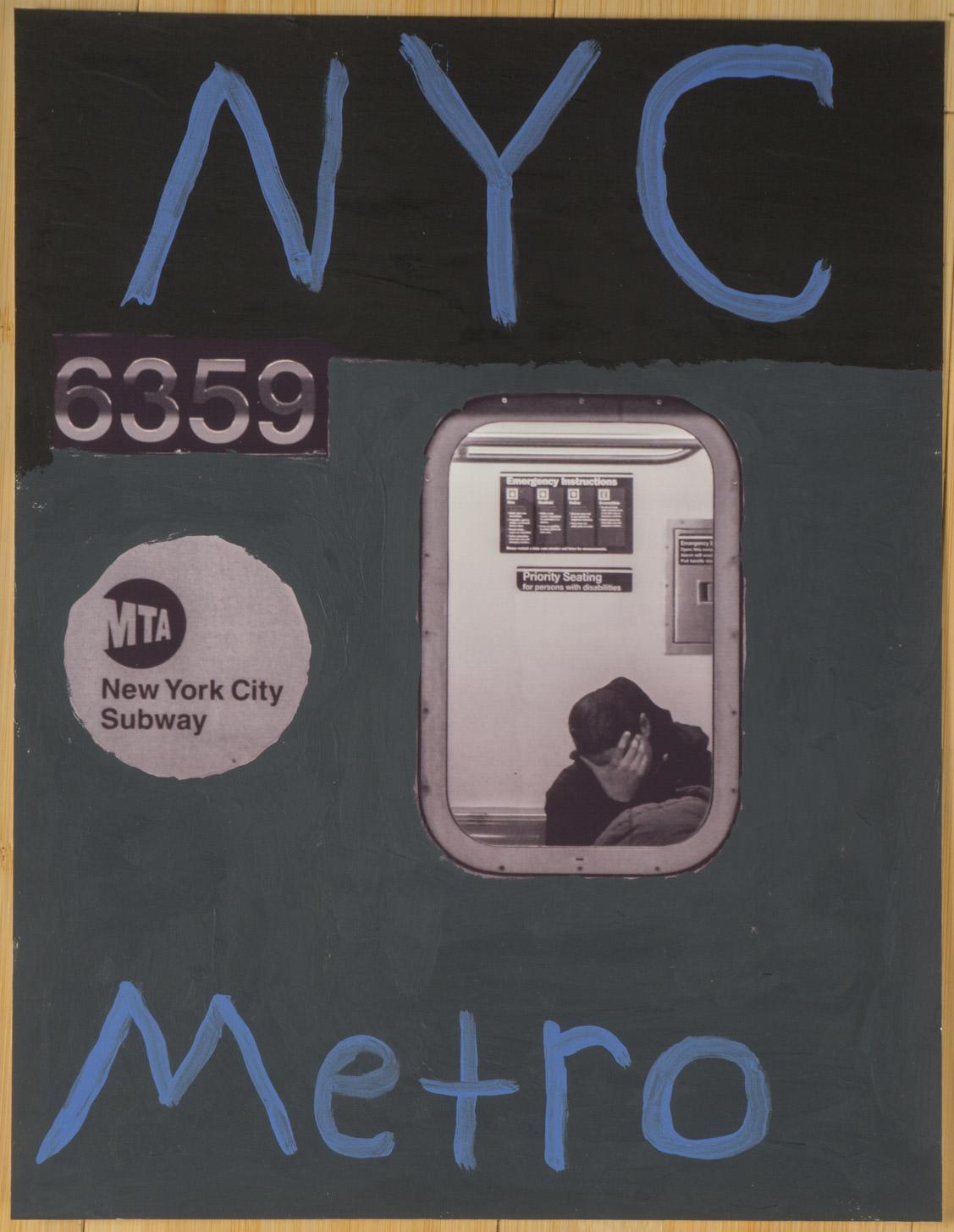 NYC Metro  (8x10 - matte print - acrylic)