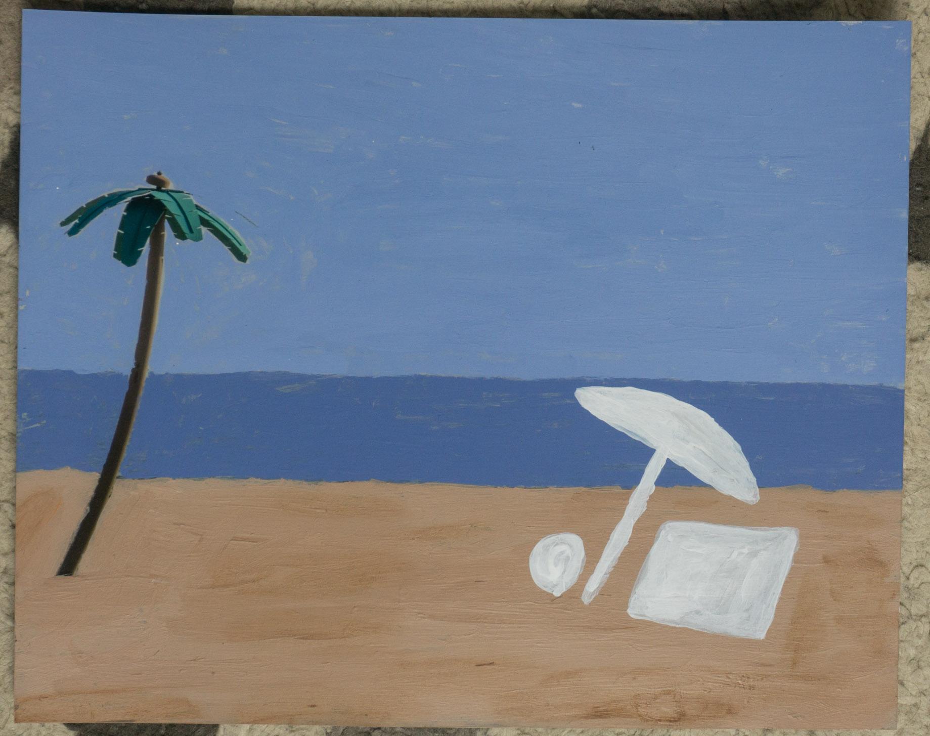 Coney beach  (8x10 - print - acrylic