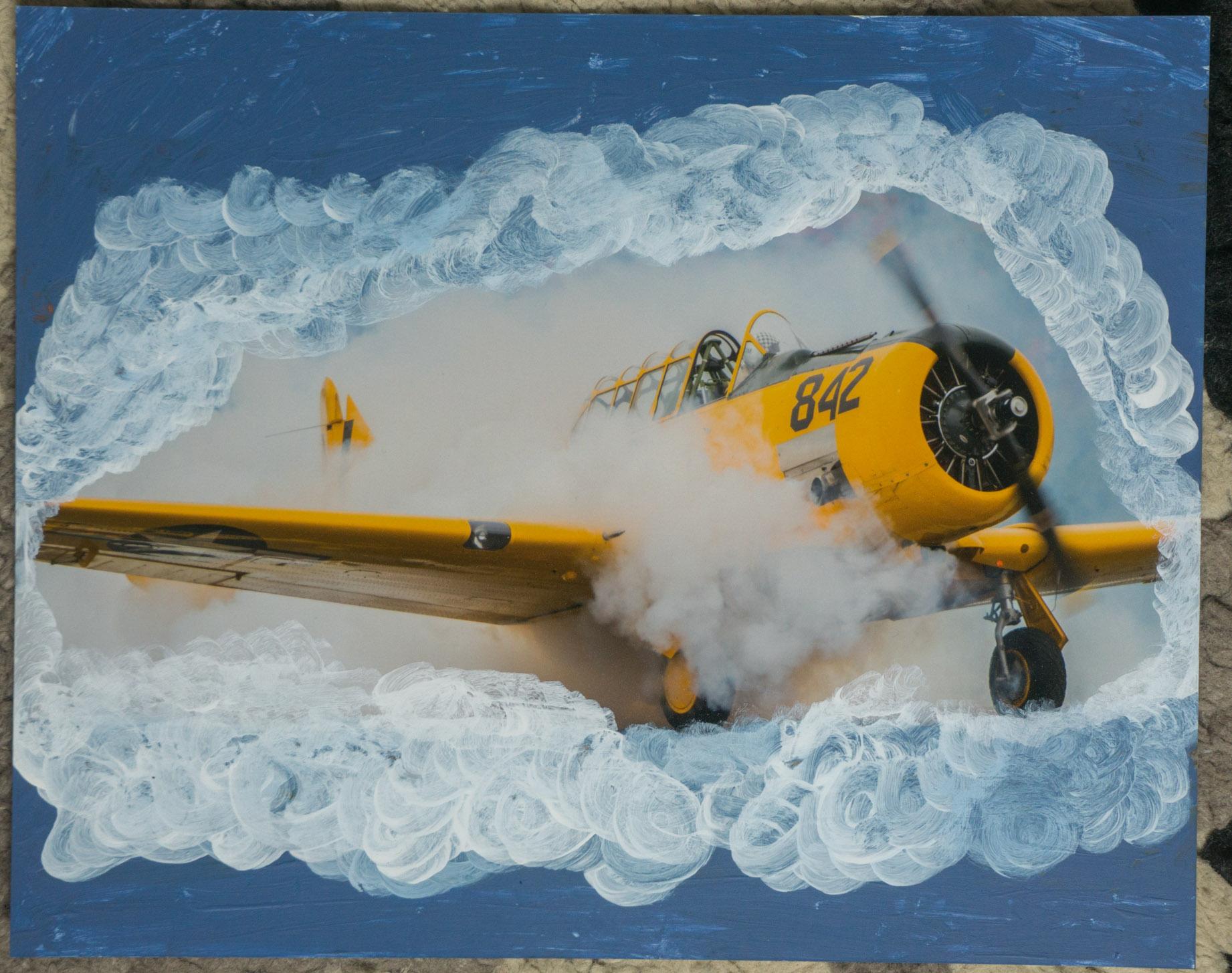 Plane smoke    (8x10 - print - acrylic