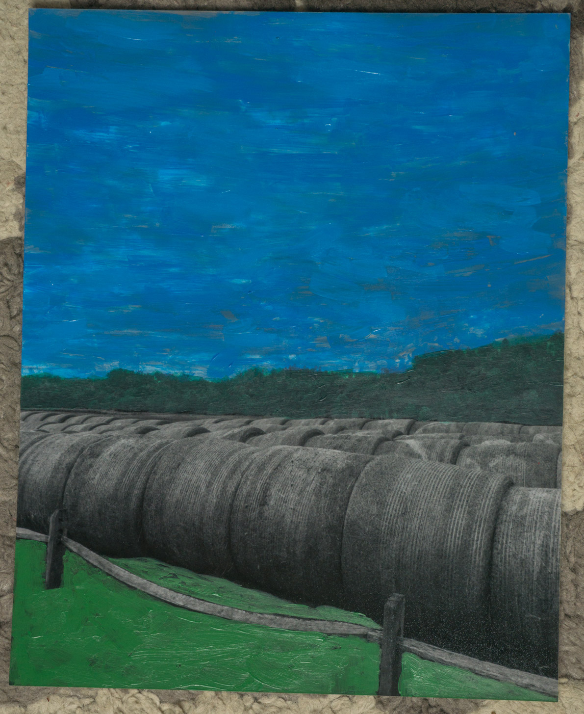 BW Hay  (8x10 - print - acrylic
