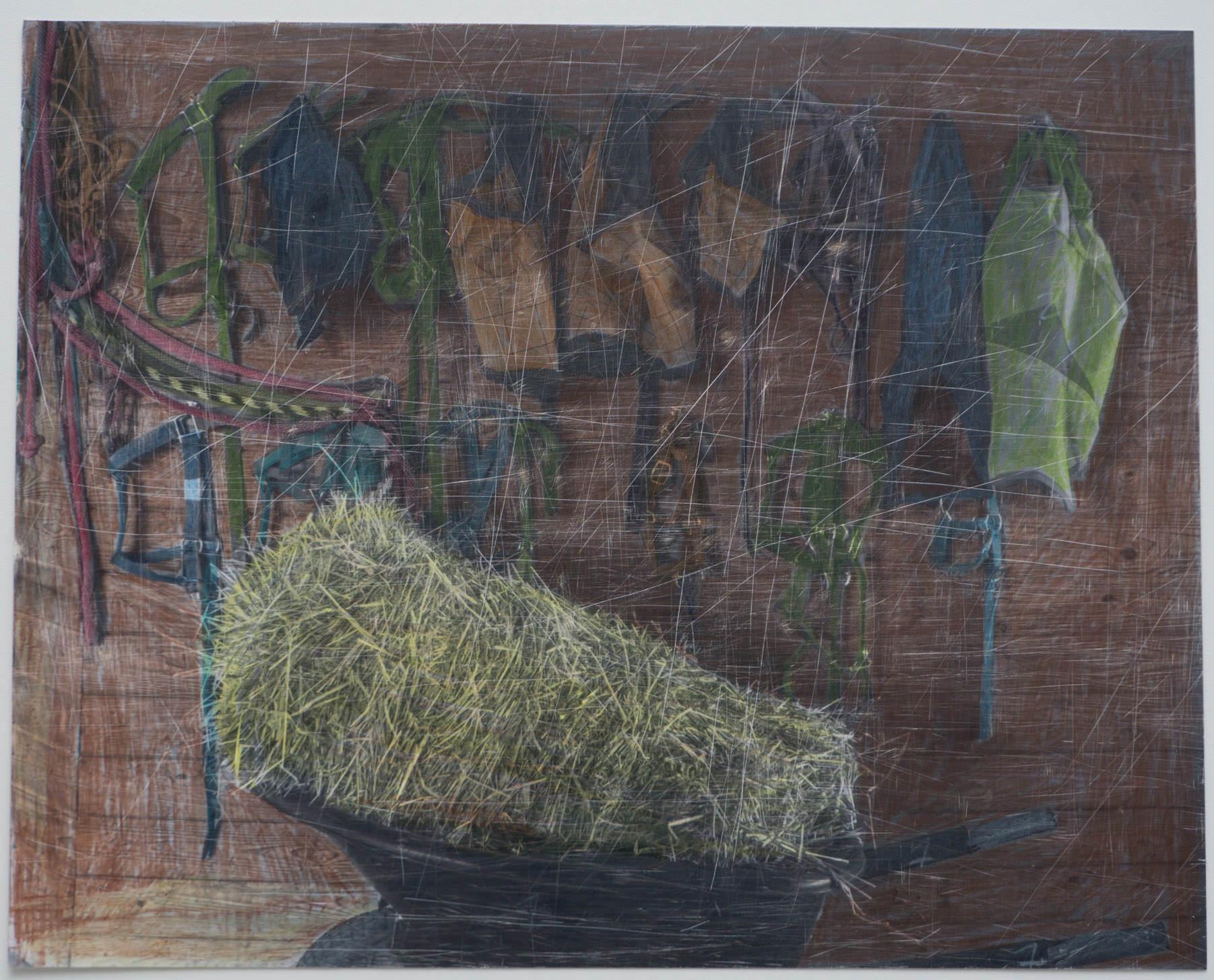BW Hay  (8x10 - sanded print - pencil