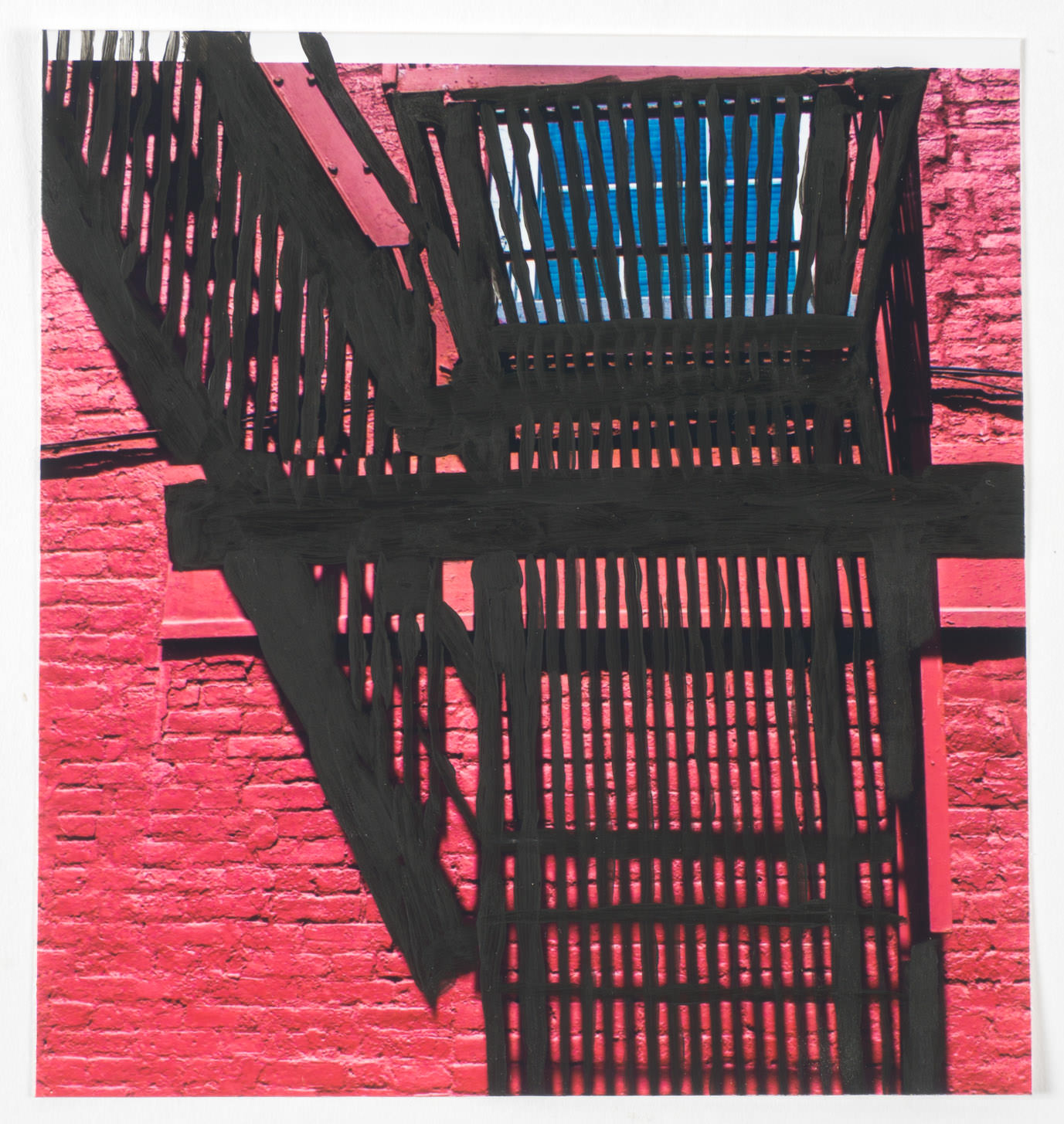 Red Shadow   (6x6 - print - acrylic