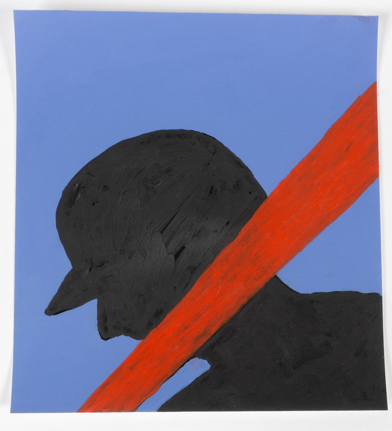 Red Bat   (8x8 - print - acrylic