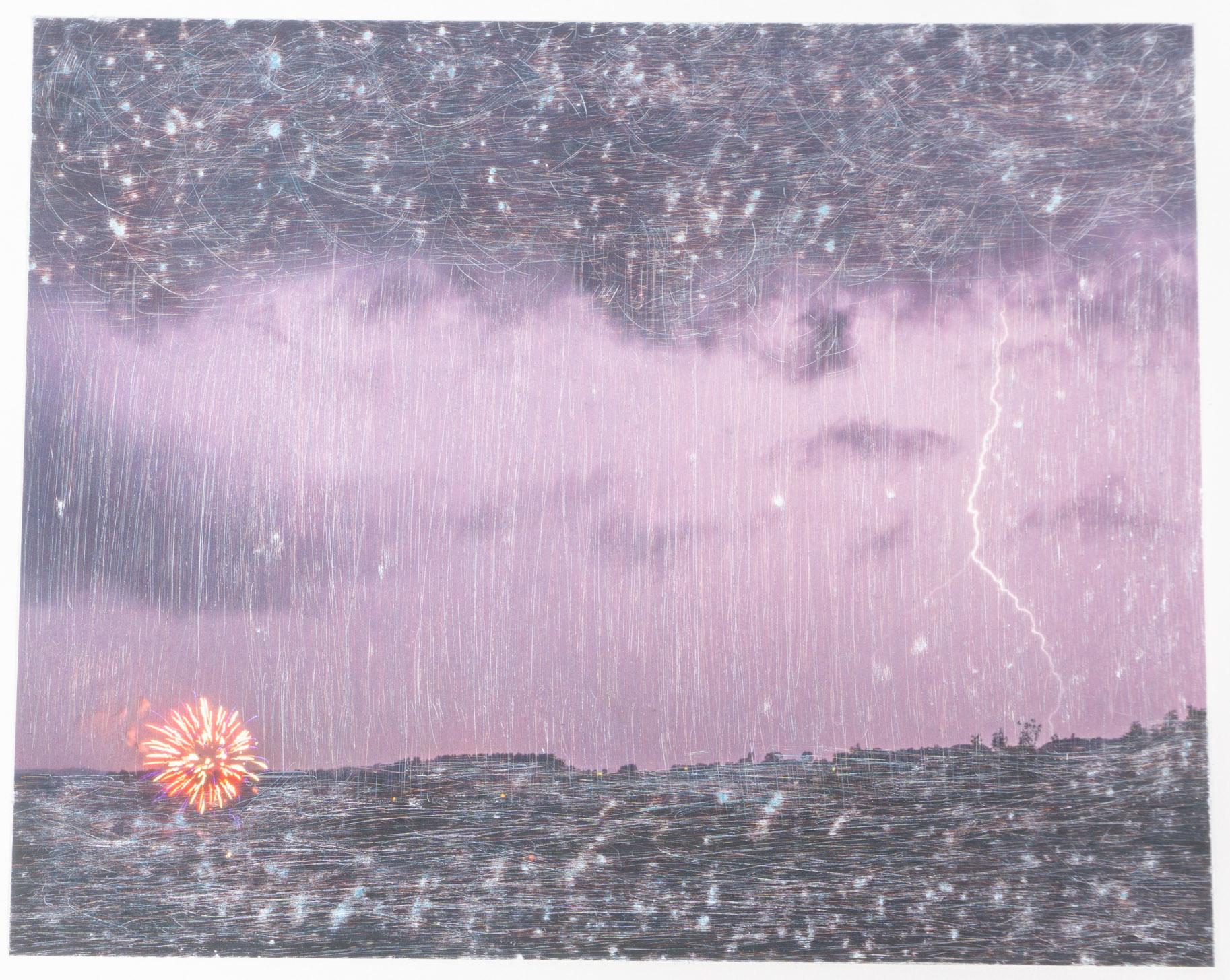 Light fire   (8x10 - sanded print