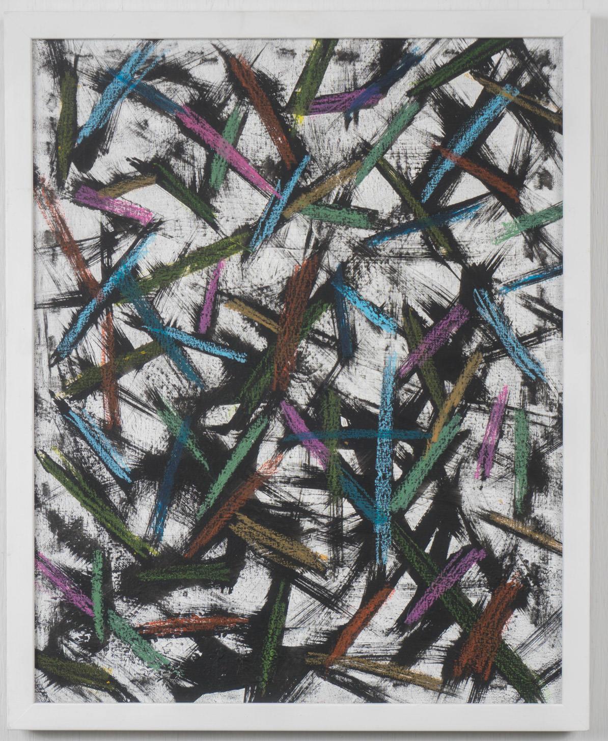 17x20 - canvas - acrylic, pastel, gesso