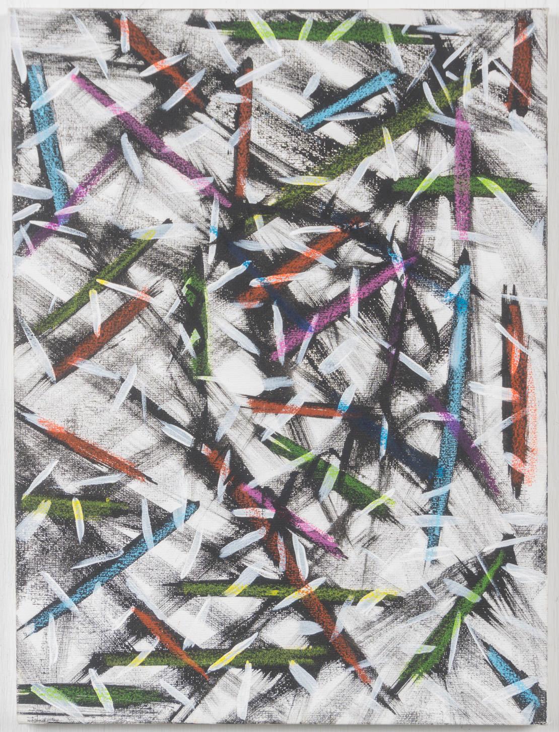 12x16 - canvas - gesso, acrylic, pastel