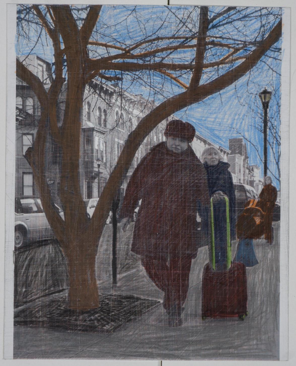 Russian coat   (8x10 - sanded print - pencil