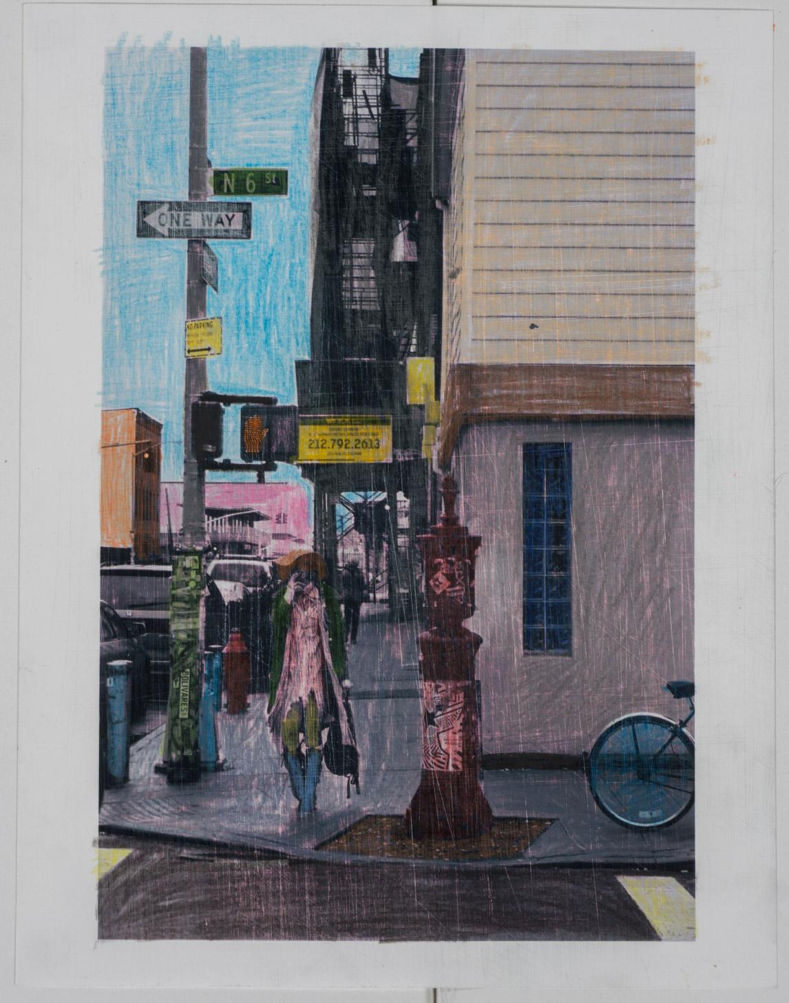Women Brook  (8x10 - sanded print - pencil