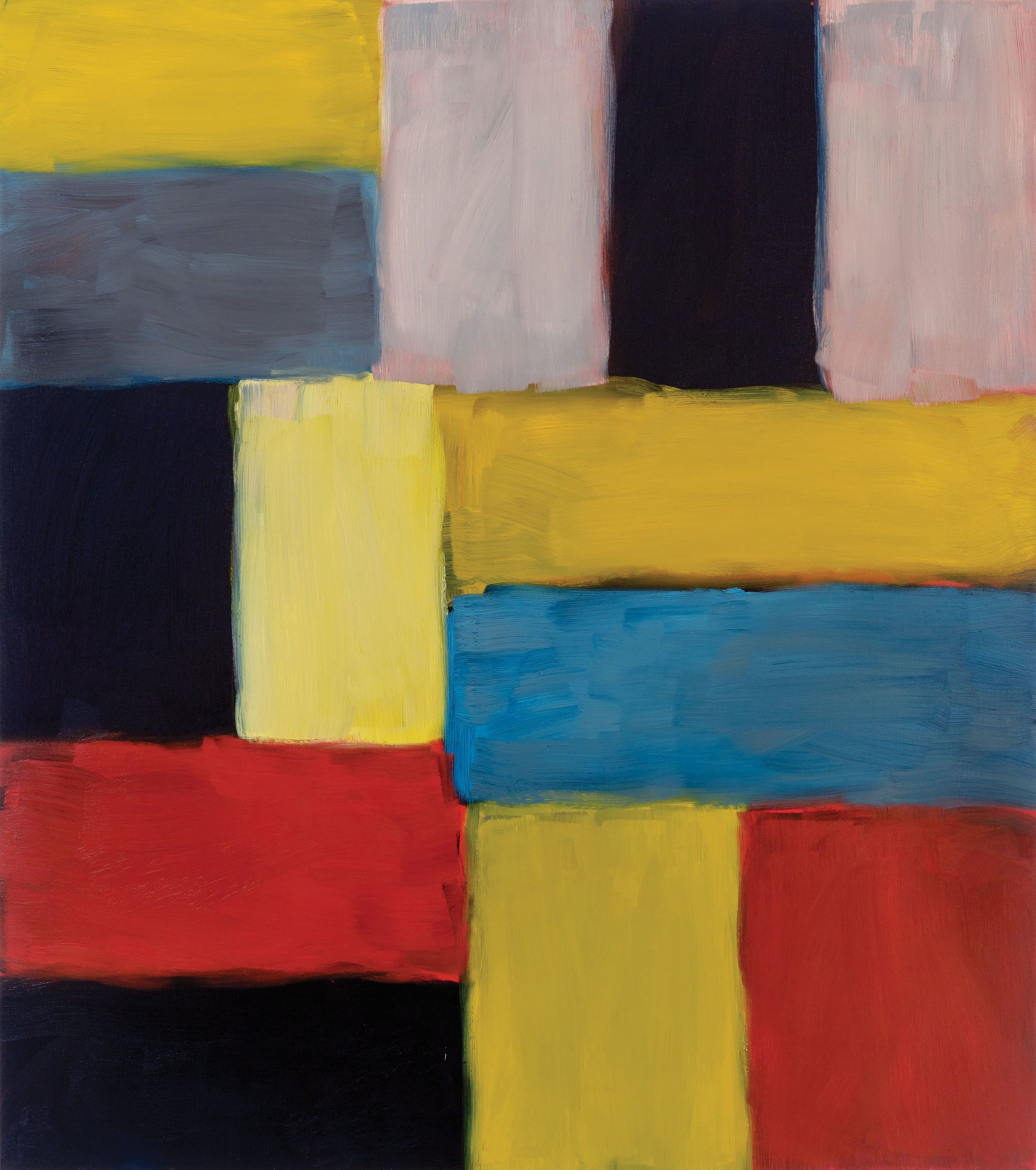 Painting by Sean Scully documented in his Manhattan studio