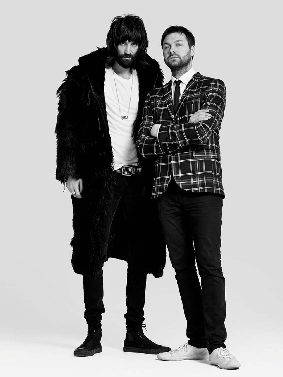 Image by Neil Bedford, all rights reserved.Tom & Sergio, Kasabian, 2014.