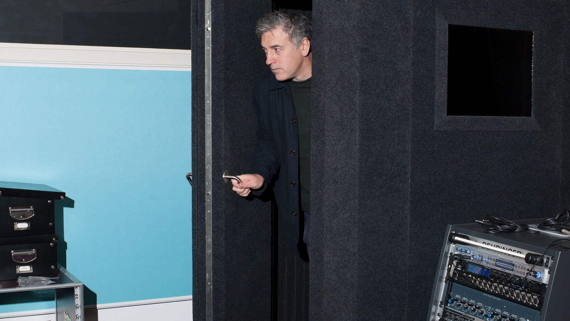 Who's that knocking? Tim Hinman in his Copenhagen studio.