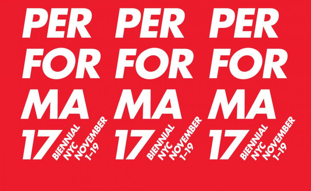 Performa 2017's visual identity, created in collaboration with artist Barbara Kruger.