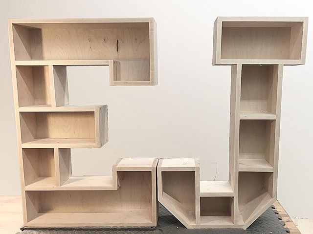 Giant maple letter shelves are a great way to show off all of those amazing little creations made by our amazing little creations...or just for those #knickknacks, #whatnots and #thingamajigs. . . . . . . . . #wallacemade #custom #custommade #handmade #wood #woodworking #maple #diy #make #maker #makesomething #makersgonnamake #home #kids #kidsroom #kidsroomdecor #design #interiordesign #kidsart #shelves #shoplocal #soma #mapso #southorange #maplewood #veteranowned #madeinusa