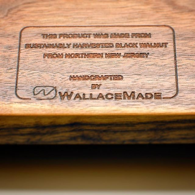 """A little """"under the hood"""" detail of a piece made from locally harvested walnut. . Whenever I check out furniture from other makers I always search for those hidden details that most people miss. . . . . . . #wallacemade #housewarming #giftideas #cheeseboard #cheese #charcuterie #charcuterieboard #custom #custommade #handmade #wood #handmade #walnut #blackwalnut #urbanlumber #cuttingboard #woodworking #diy #make #maker #makesomething #makersgonnamake #home #foodie #homegoods #kitchen #kitchenware #homeaccessories #veteranowned #madeinusa #shoplocal"""