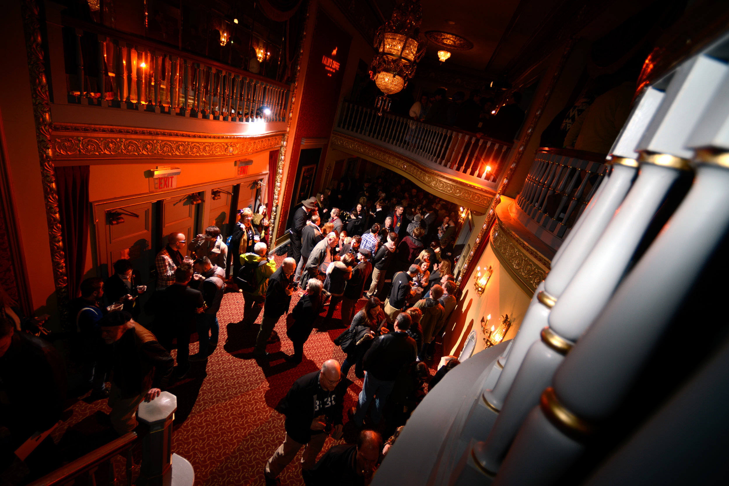Crowds mingle during the True/False Jubilee masquerade at the Missouri Theatre on Thursday, March 3, 2016, in Columbia, MO. The idea for the festival began in 2003, and attendance exceeded 49,500 that year.