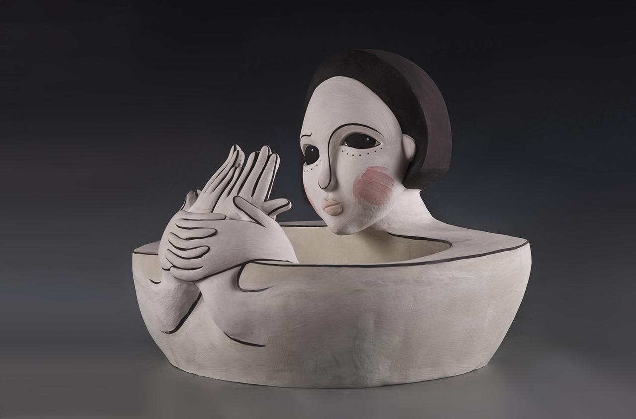 Monologue – The Front, 2012 w52cm, h40cm, d45cm Glazed Porcelain