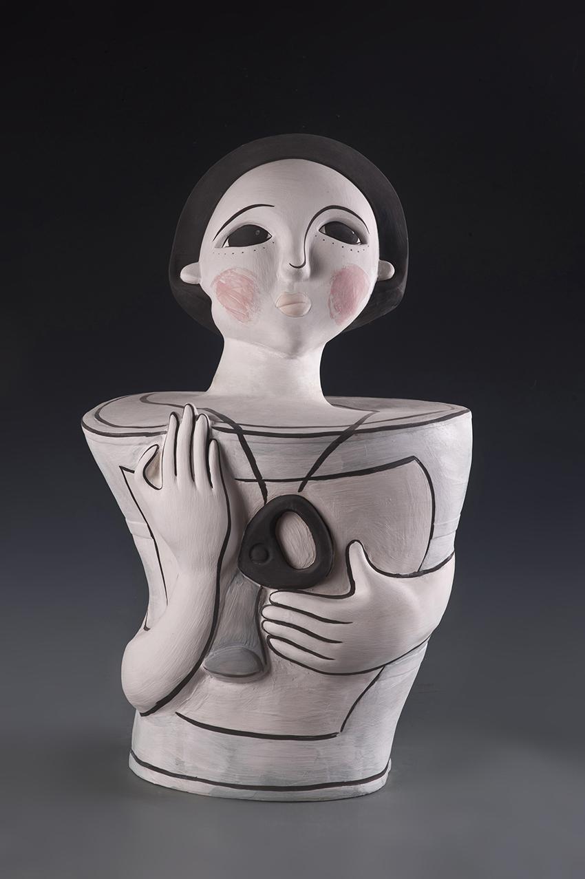 Monologue – The Top, 2012 w43cm, h69cm, d20cm Glazed Porcelain