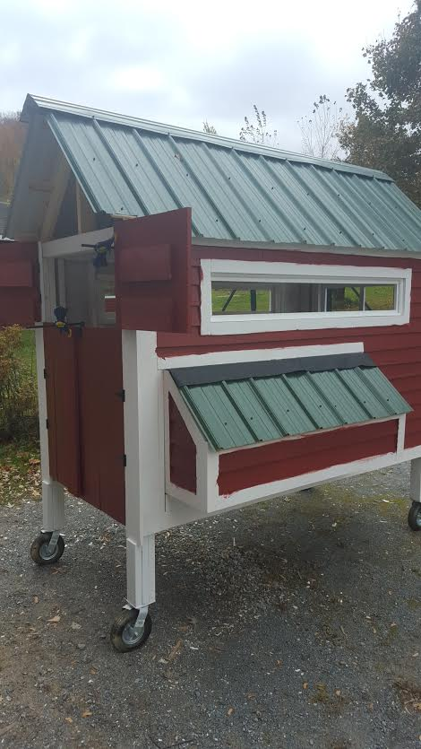 Just a few paint touch ups to finish and the Vermont BandB hen house is complete!