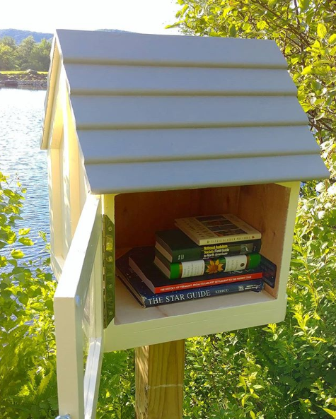 Check out the books in our new tiny free library!