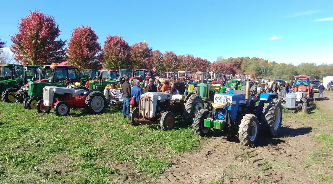 Quite the festive scene at the East Charlotte Tractor Parade!