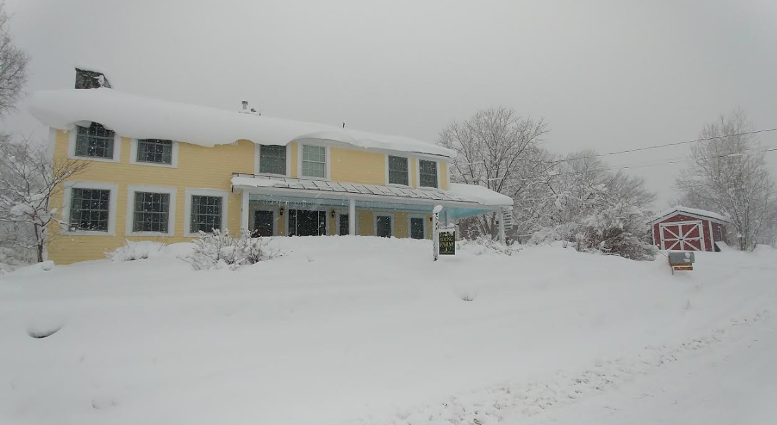 Fresh snow at our Vermont Bed and Breakfast!