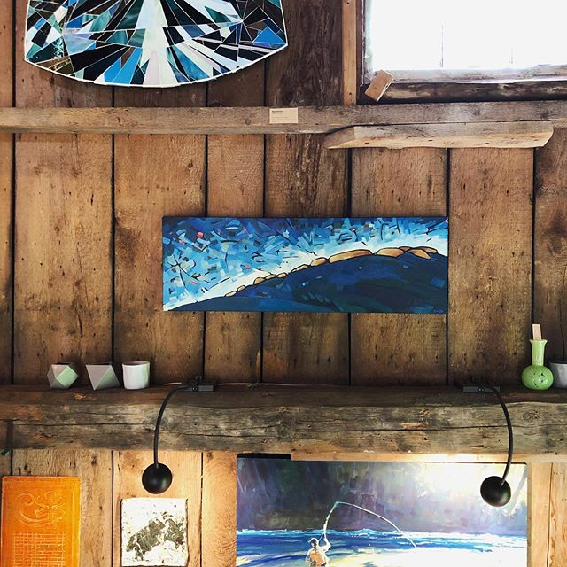 So joyful to announce my work is now at @thegoodsupply in Pemaquid. Cat is an incredible curator and I greatly respect her integrity to local, natural, resourceful, thoughtful design. I don't sell my work at many spots- but this place is SUPER special! Like, notice how my work gets to flirt with @jessicaleeives inspirational paintings? Like a lot? Yeah. I'm stoked.  #maineart #mainecoast #mainecollaboration #thegoodsupply @mainehomedesign check it out #integrity #mollymaps