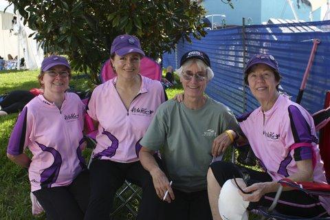 Marcie Hamilton, Linda, Wendy, Melba Orlando Races 2008.JPG