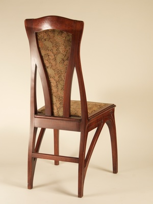 Attributed To Eugene Gaillard Pair Of Art Nouveau Side Chairs 1213
