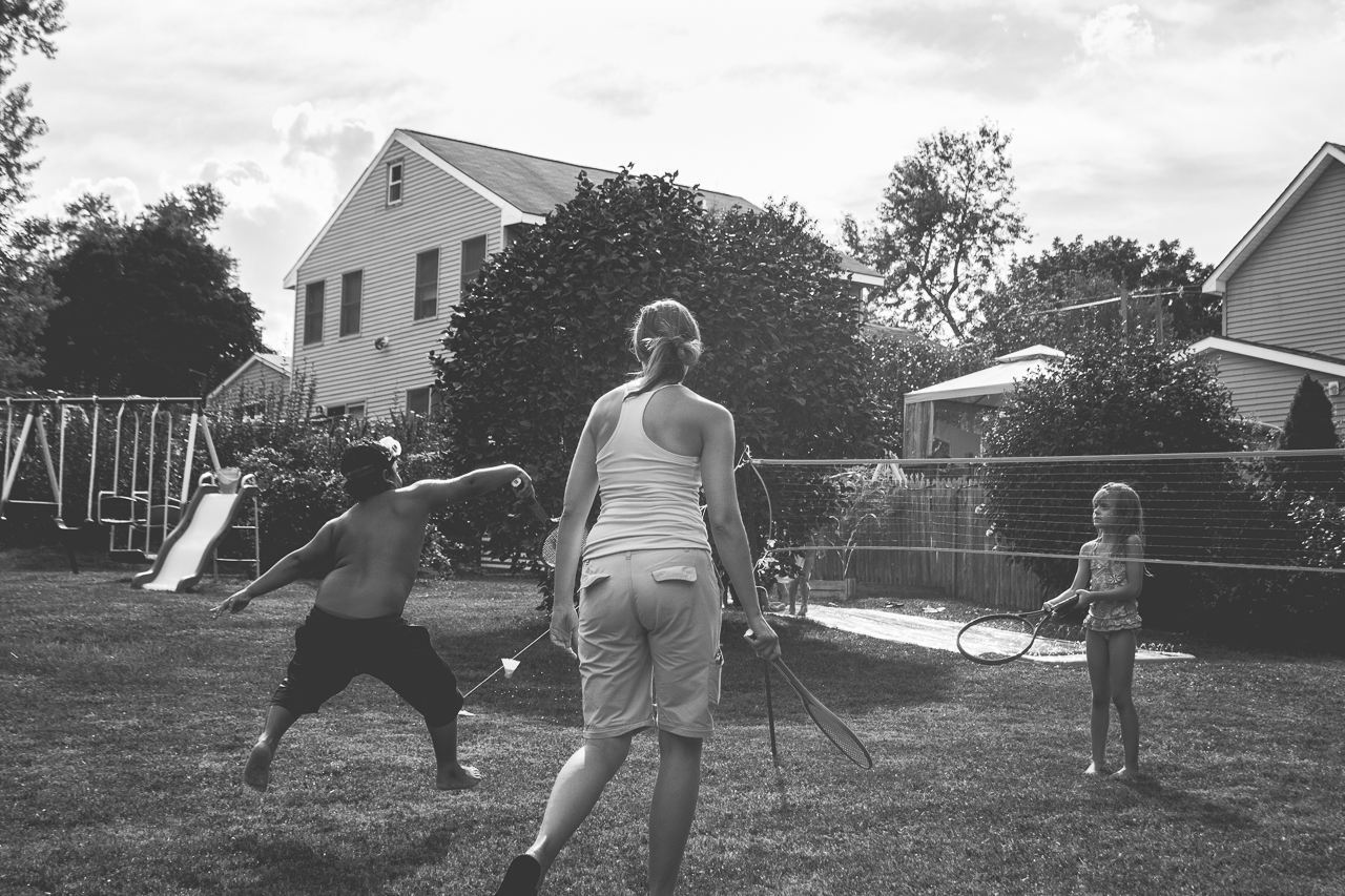 New Jersey Family Photographer - Birthday Party Backyard Games