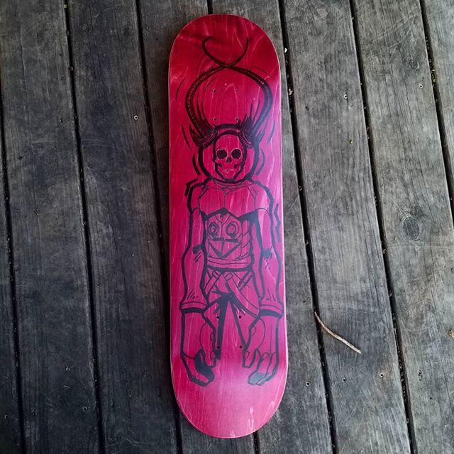 Working on a new deck  #skateboard #skull #astronaut