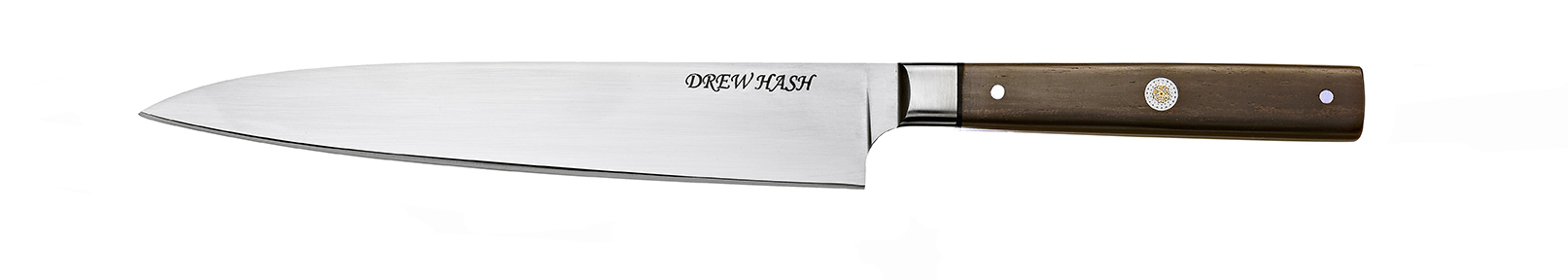 11.5-in. slicer, 7-in. AEB-L blade, 416 stainless bolsters, African blackwood handle, mosaic pins