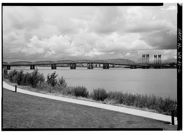 Historic American Engineering Record, Creator. Vancouver-Portland Interstate Bridge, Interstate Route 5 Spanning Columbia River, Vancouver, Clark County, WA. Clark County Multnomah County Oregon Portland Vancouver Washington, 1968. Documentation Compiled After. Photograph. Retrieved from the Library of Congress, https://www.loc.gov/item/wa0427/. (Accessed December 08, 2017.)
