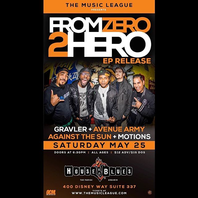 It's been almost 2 years since our sold out CD release show at #houseofblues . Let's help @z2hofficial sell out theirs! All band on this bill have tickets available or cop from #ticketmaster . C u ther bb
