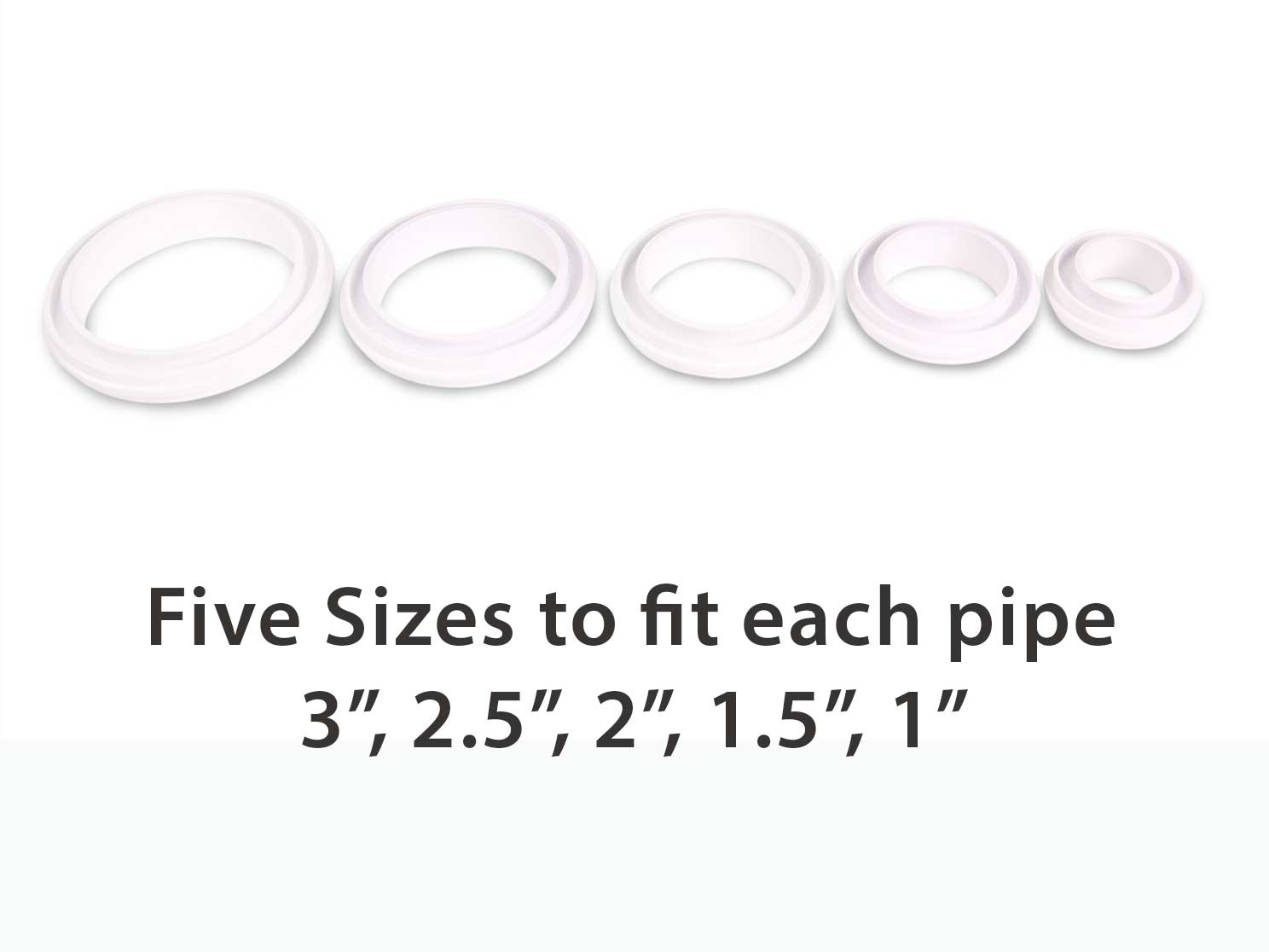 water stop pipe sleeve sizes