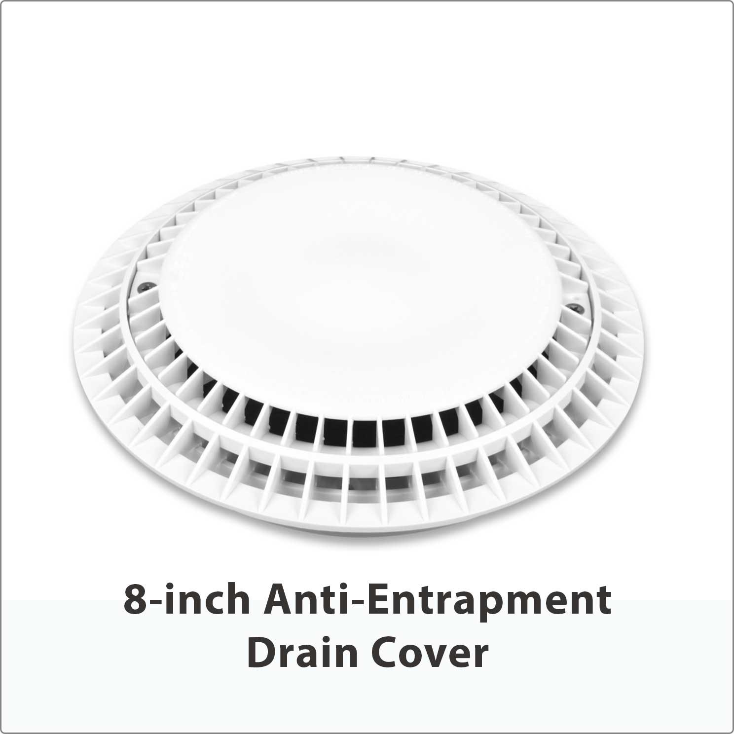 """8"""" Anti-Entrapment Drain Cover"""
