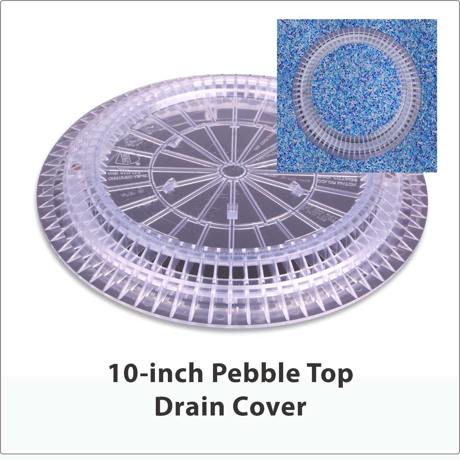"10"" Pebble Top Drain Cover"